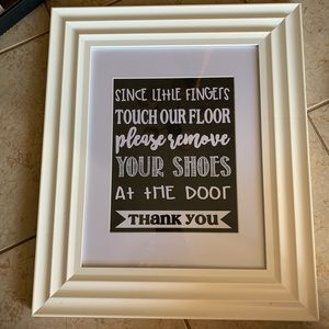 Remove your shoes entryway sign